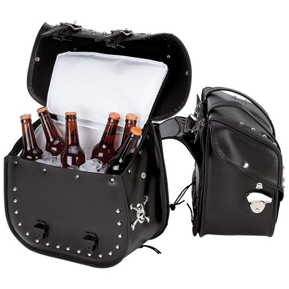 Beer Bags 4pc Studded Motorcycle Saddlebag Cooler Set by Beer Bags (Image #3)