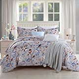 GOOFUN-D31Q Duvet Cover Bedding Set 3pcs Lightweight Microfiber Well Designed 1 Duvet Cover 2 Pillow Shams, Comfortable, Breathable, Soft, Extremely Durable,Full/Queen Size