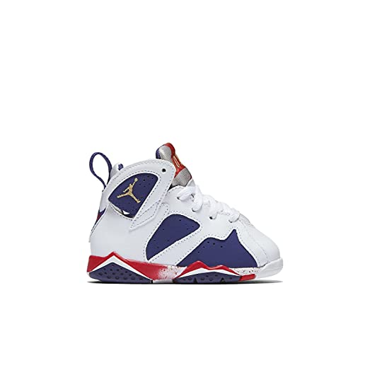 Nike Air Jordan 7 Retro Kids BT WhiteBlue 304772-133 (SIZE