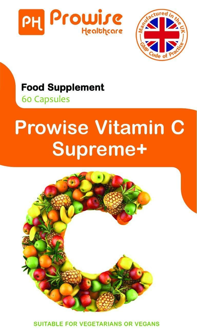 Prowise Vitamina C Formulario de Alimentos 60 Cápsulas - Alimentos Naturales Suplemento de Vitamina C - Reino Unido Fabricado para GMP Calidad Garantizada ...