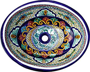 Talavera Mexican Handmade Hand Painted Sink - - Amazon.com