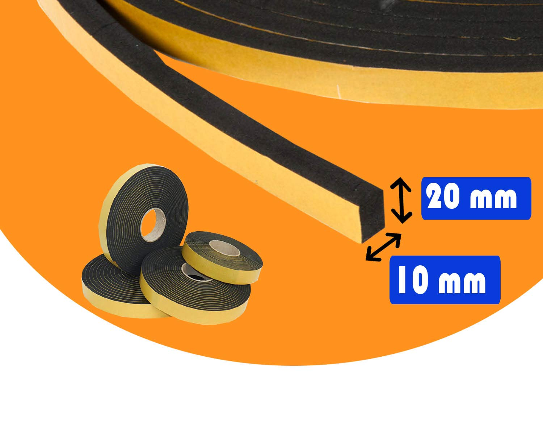 Guidetti Service rollo de 10/metros de neopreno Junta adhesiva negra de 5/mm