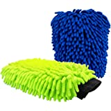 Car Wash Mitt 2Pack Extra Large Size Premium Chenille Microfiber Wash Glove Reusable Wash Mitt Super Soft Wet and Dry No…