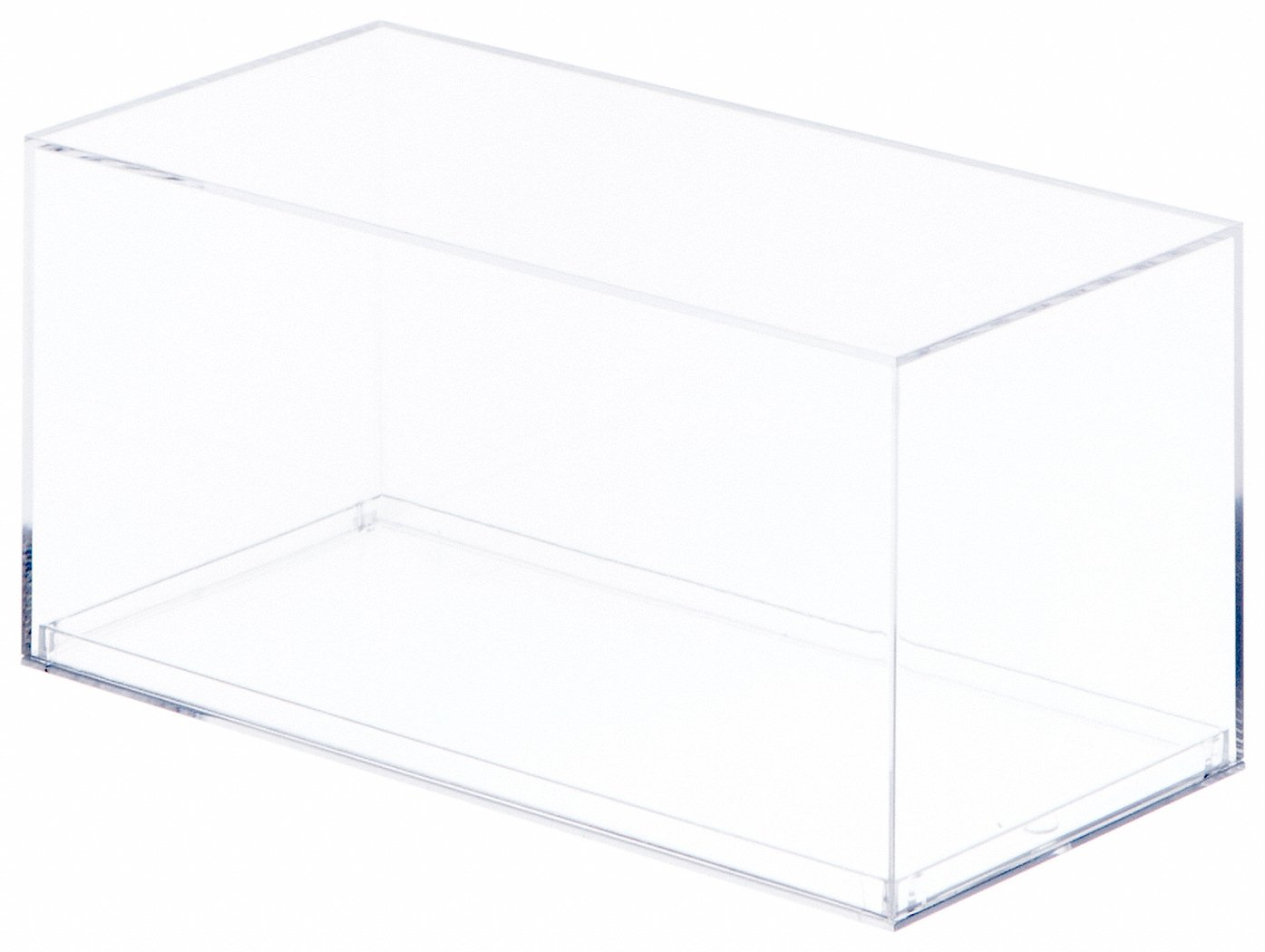 Clear Acrylic Display Case With No Beveled Edge For 1 32 Scale Cars 7.1875 x 3.8125 x 3.875