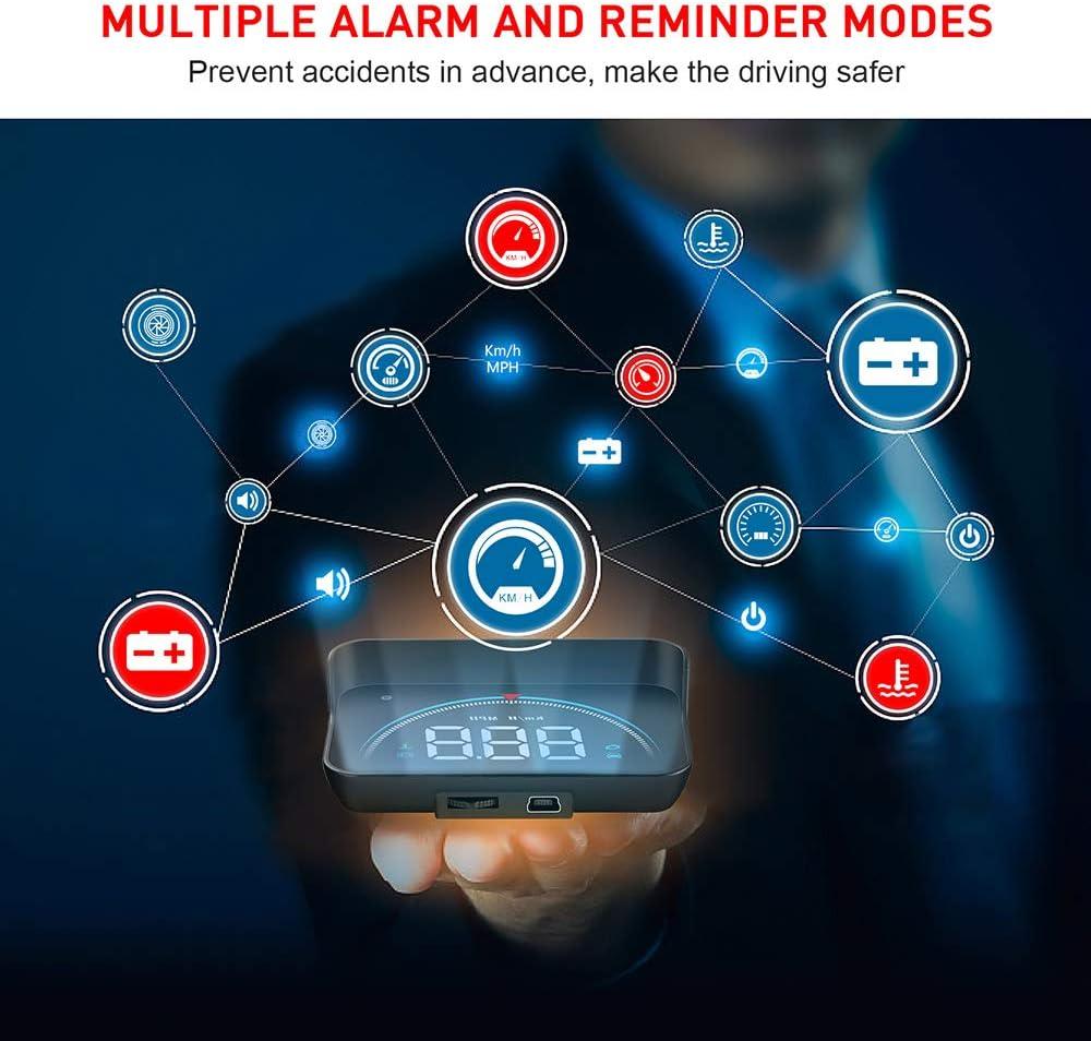 OurLeeme Car HUD Head Up Display 3,5Full HD OBD2 Tachometer Alarm ...