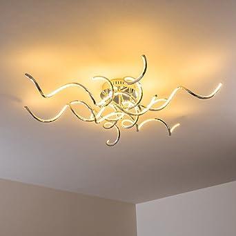 ZEARO Design Deckenleuchte LED Wohnzimmer Chrom Flur Strahler Leuchten Deckenlampen