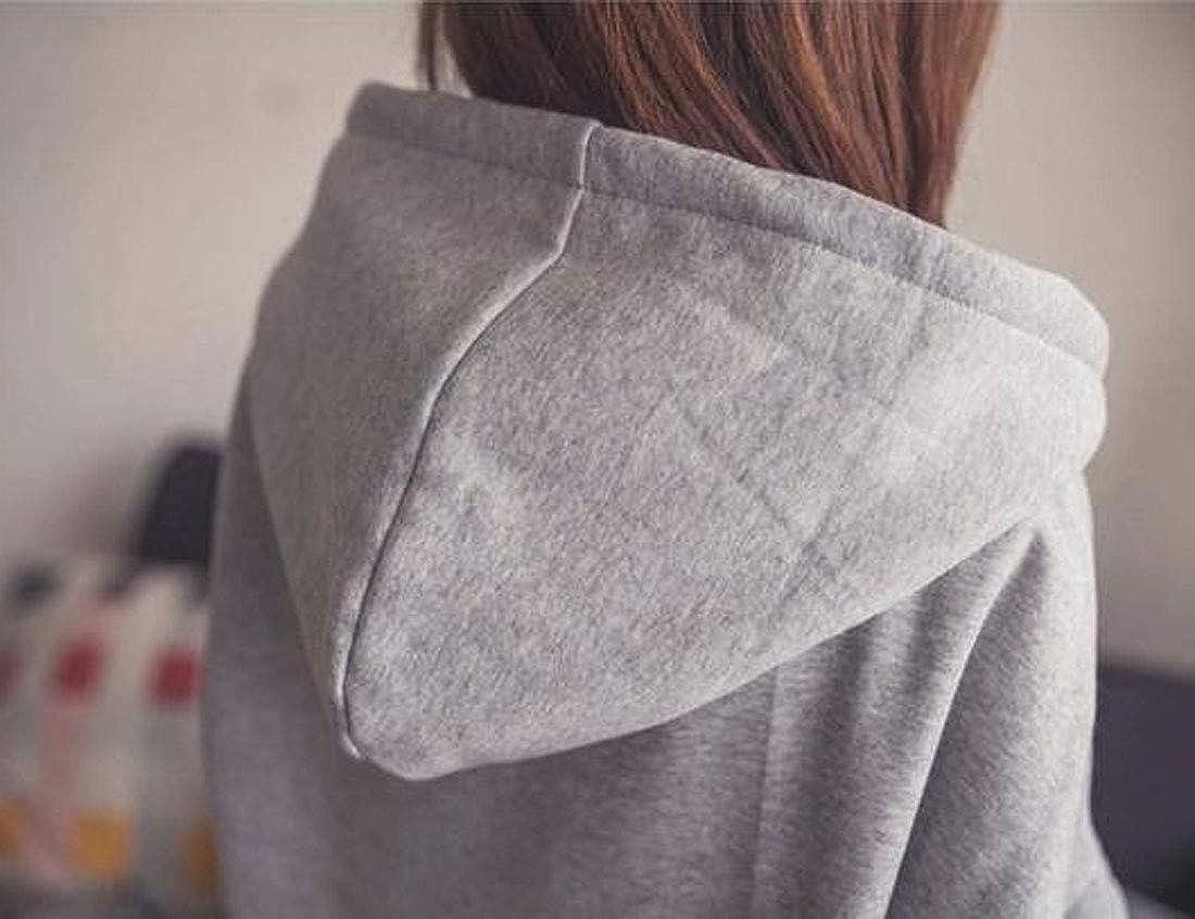 Loveinus Womens Long Torso Long Sleeve Tops Tshirts Loose Kangaroo Pocket Hoodie Fleece Pullover Plus Size Sweatshirt