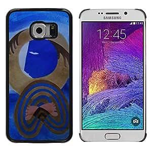 """For Samsung Galaxy S6 (NOT FOR S6) EDGE / SM-G925 Case , Cubismo del arte moderno de Picasso Acuarela"""" - Diseño Patrón Teléfono Caso Cubierta Case Bumper Duro Protección Case Cover Funda"""