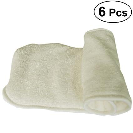 SUPVOX 6 unids/pack insertos de pañal de tela de bambú 5 capa de carbón