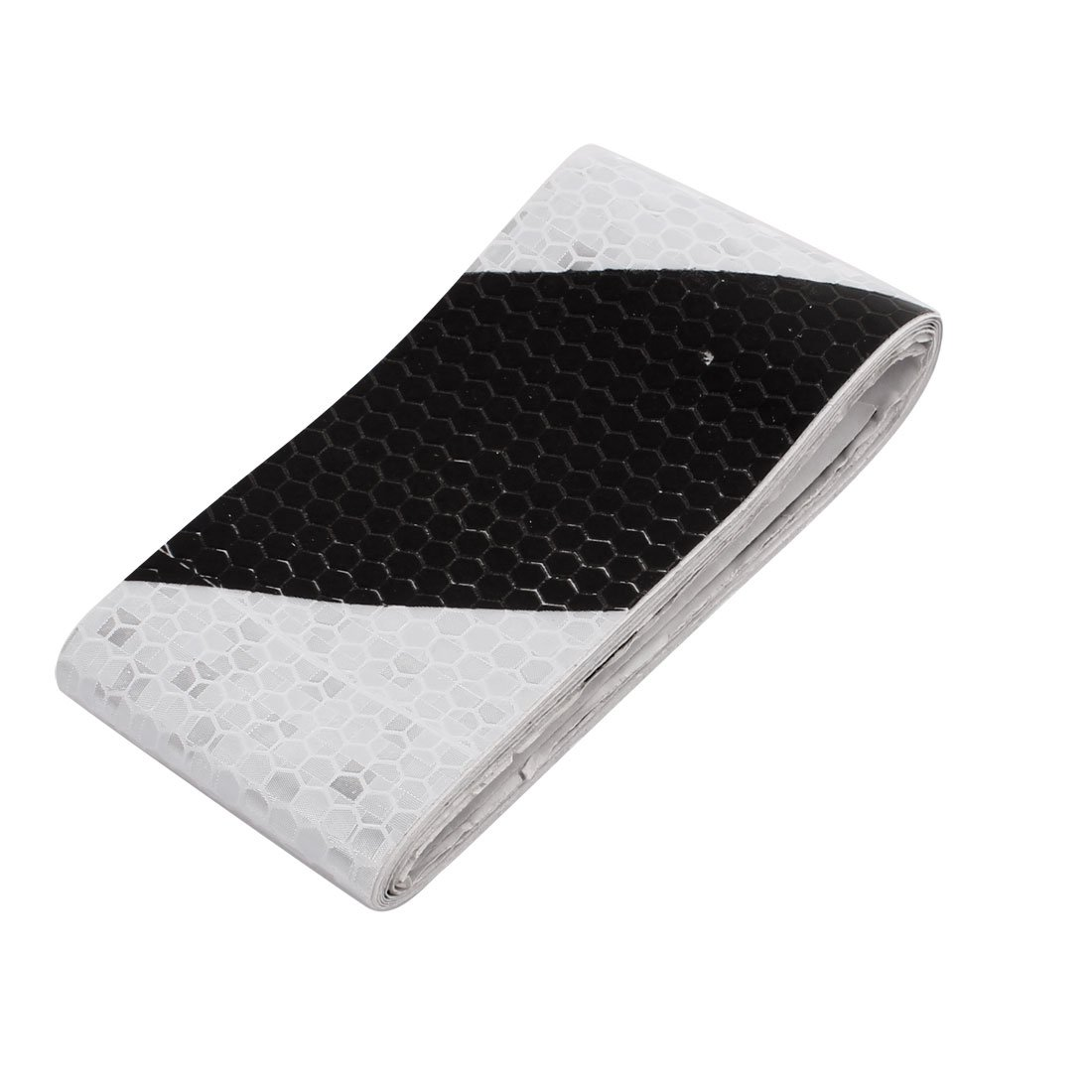 uxcell White Black Honeycomb Reflective Conspicuity Tape 5cm Width 1.5m Length