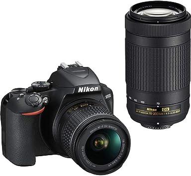 Case /& More Nikon D3500 Digital SLR Camera Body with Nikon Nikkor 18-55mm AF-P DX f//3.5-5.6G VR Lens DSLR Kit Bundled with Complete Accessory Bundle 64GB International Model Flash