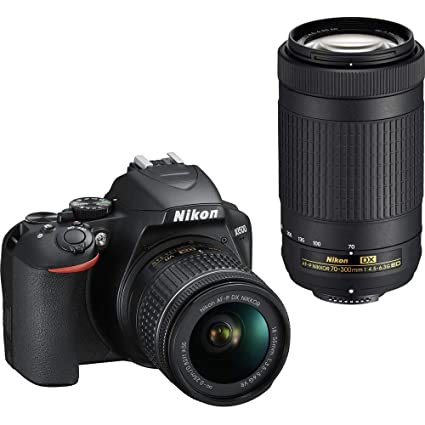 Nikon D3500 DX-Format DSLR Two Lens Kit with AF-P DX NIKKOR 18-55mm  f/3 5-5 6G VR & AF-P DX NIKKOR 70-300mm f/4 5-6 3G ED, Black