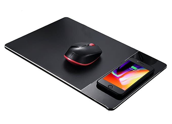 Amazon Com Wireless Mouse Pad Charger Kptec 2 In 1 Qi Certified