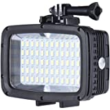 Andoer Ultra Bright 1800LM 3 Modi Wasserdicht Unterwasser 40m 5500K 60pcs LED Tauchen Fill-in Light Video-Studio-Foto-Lampe für GoPro Xiaomi Yi SJCAM Action Cam&für DSLR-Kamera+3 * Filter