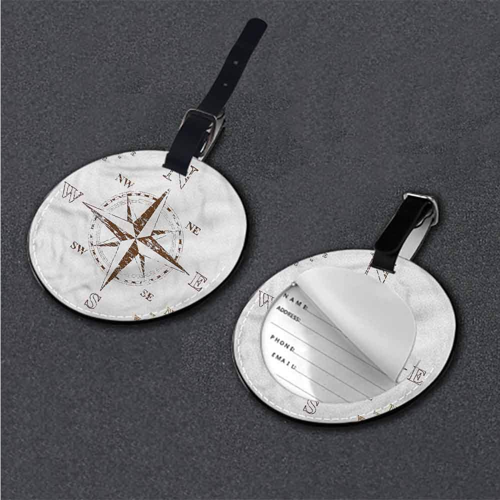 Tags Portable Label Compass,Faded Windrose Sailing Good-looking