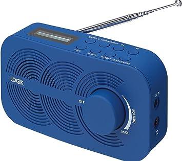 Logik Lrndab14 Portable Dab Radio Blue Amazon Co Uk Electronics