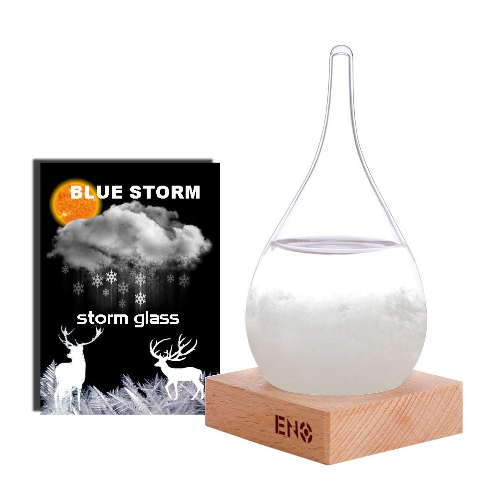 Eno Storm Glass Stylish Creative Desktop Decorative Bottle Water Drop Glass Barometer storm glass Weather Forecast Bottle Weather Station