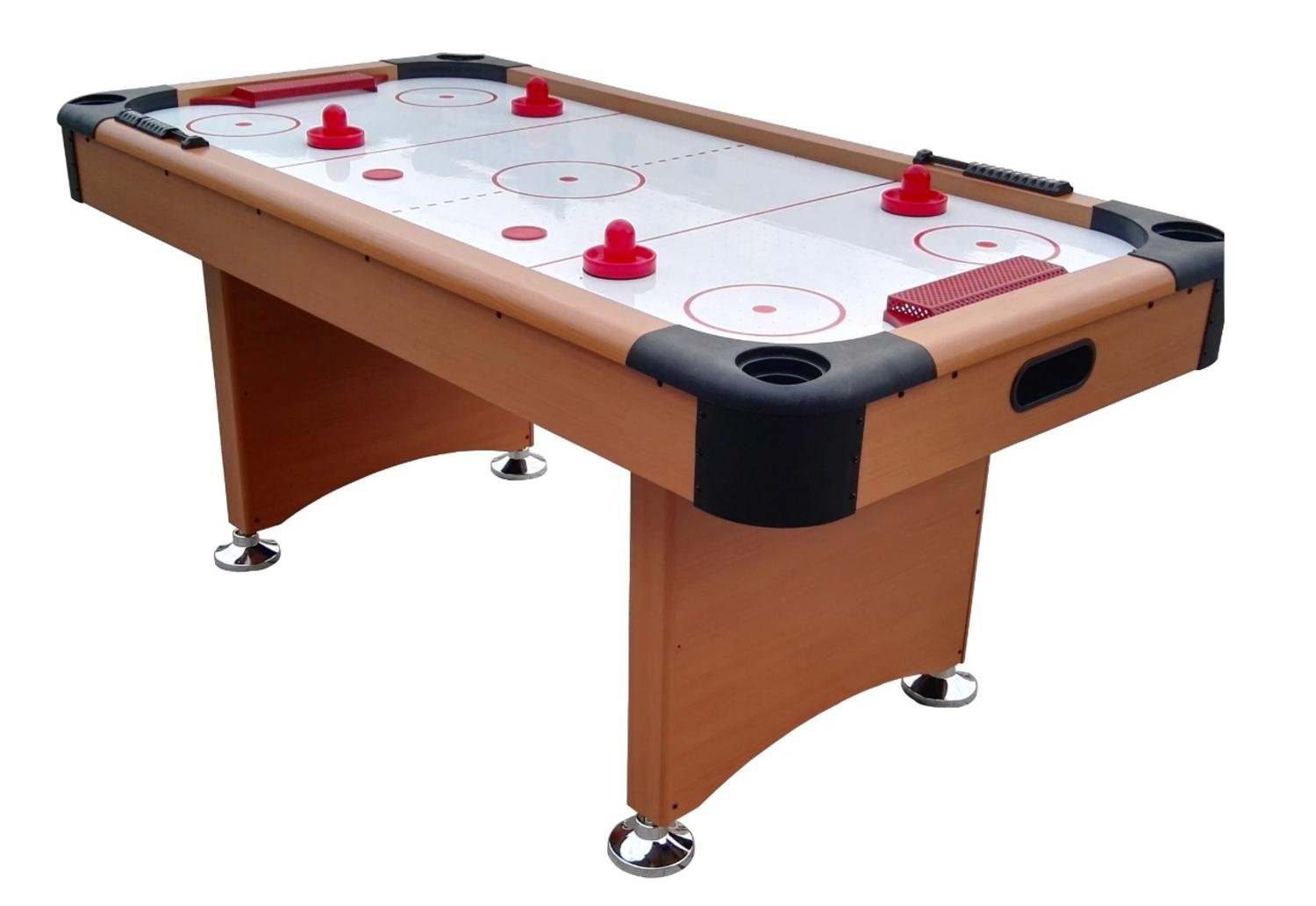 Pool Central A503-6FT Game Table, Brown/White/Red, 6' 3' by Pool Central