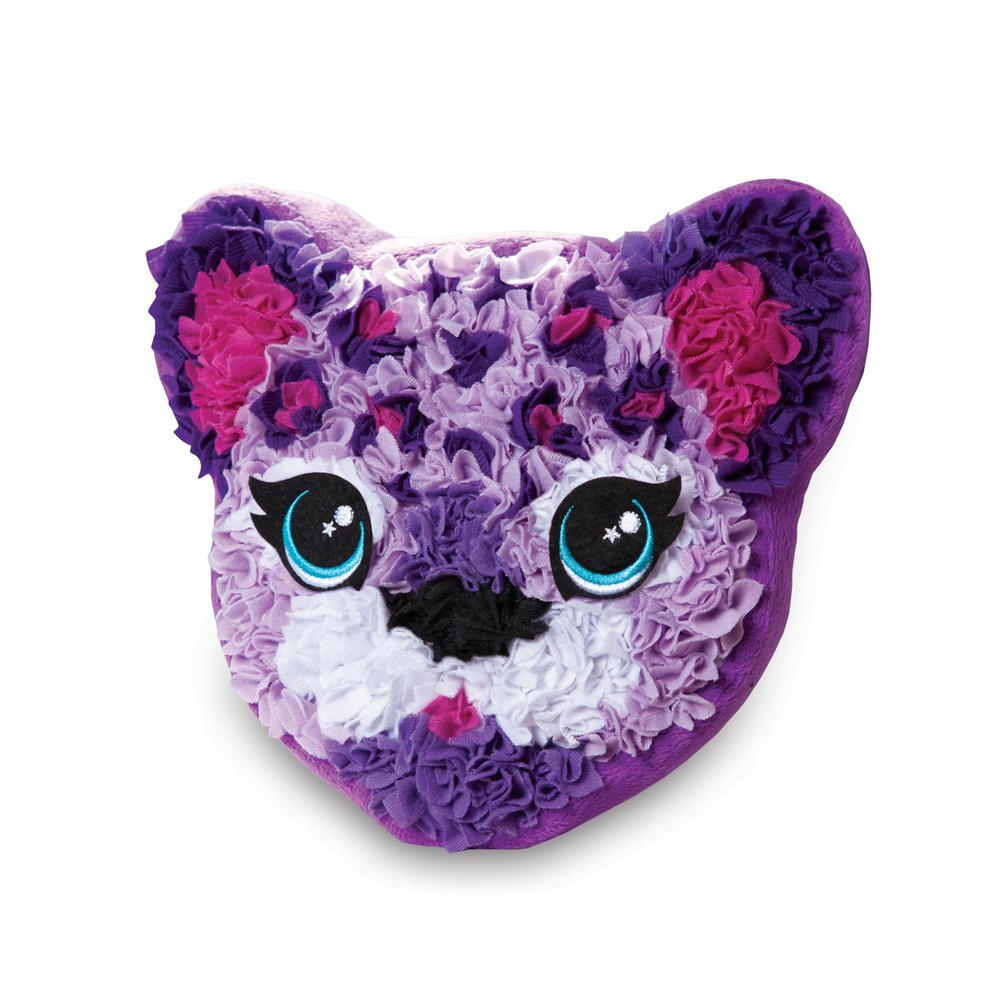PlushCraft ORB FACTORY PILLOW PURPLE LEOPARD PILLOW