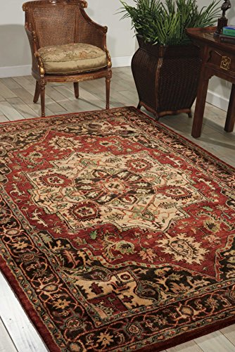 Nourison Jaipur (JA36) Red Runner Area Rug, 2-Feet 4-Inches by 8-Feet  (2'4