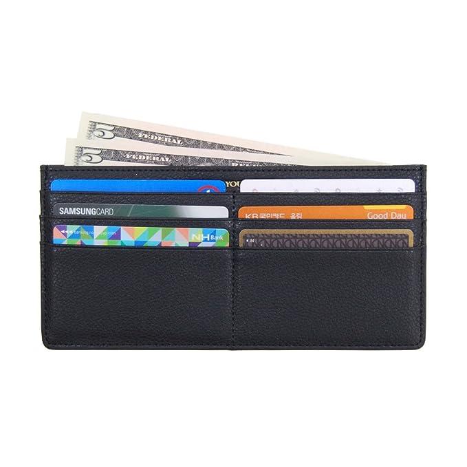 Women S Soft Leather Credit Card Slim Wallet Zipper Pocket Purse For