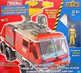 Tonka BTR Search & Rescue RAPID RESPONSE FIRE TRUCK 104 Pieces BUILDING SET w FIRE FIGHTER Figure, GEAR & More! *Works w LEGO (2003 Hasbro Canada)