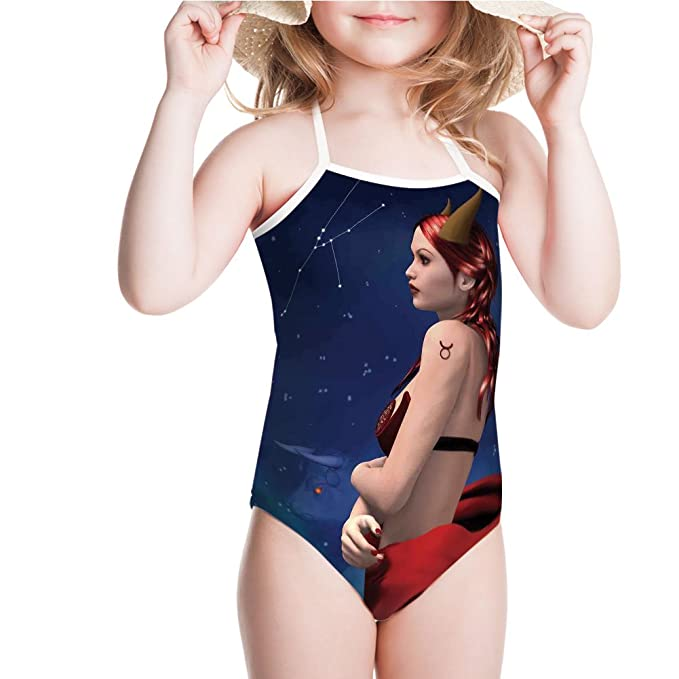 21d2549c35 iPrint Swimsuit Maleficent Zodiac Stars Venus Beauty Graphic for 3-4ages