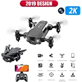 Panzisun Mini 2.4G WiFi FPV 2K HD Wide-Angle Camera Air Pressure Constant RC Quadcopter RTF 6-axis Headless Mode (800mah Battery) (B)