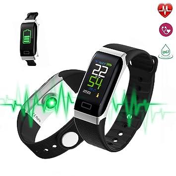 MEETYOO Montre Connectée, Smartwatch avec Podomètre Cardiofréquencemètre Moniteur Pression Artérielle/Rappel SMS Étanche Bracelet