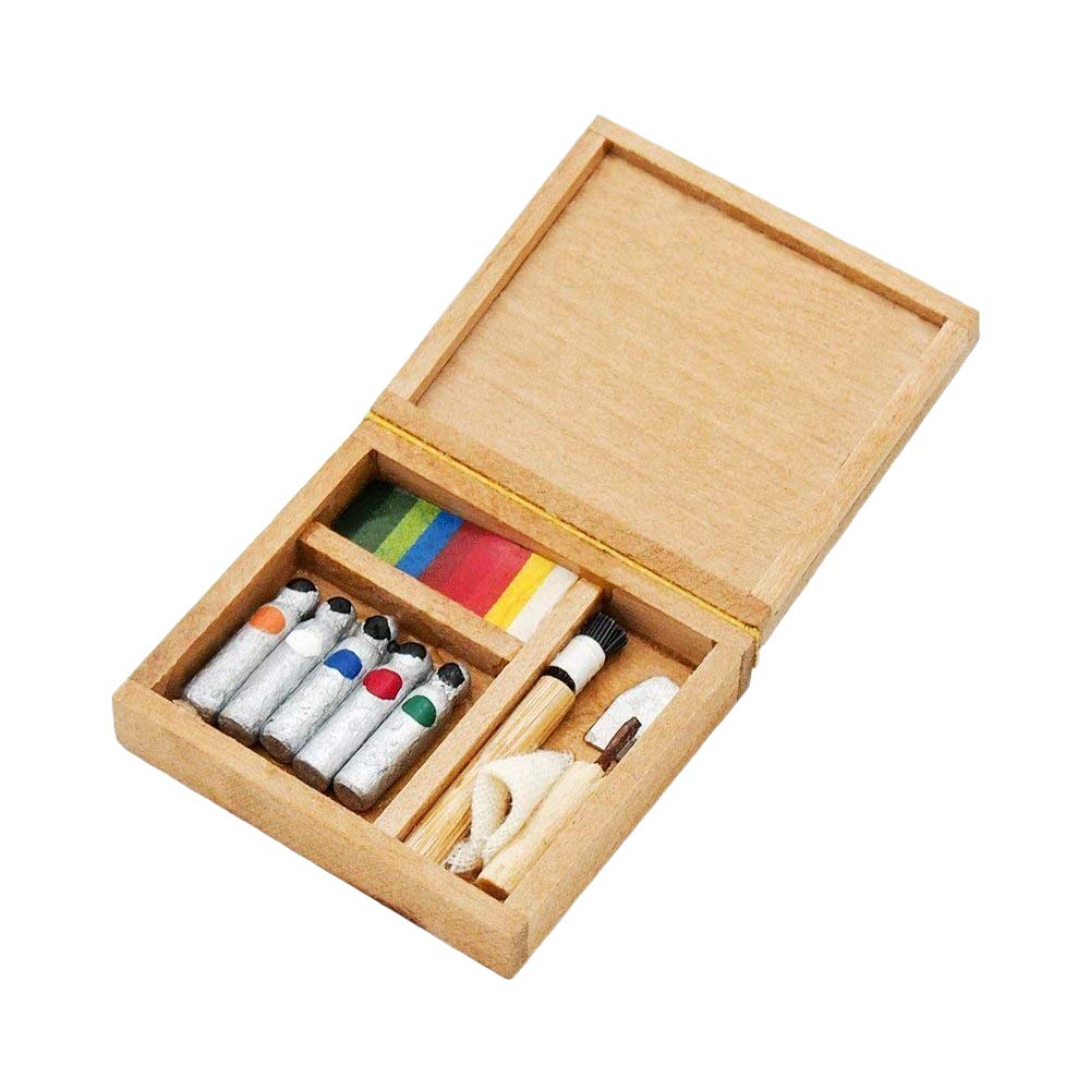 Odoria 1:12 Miniature Pigment Box Paintbox Dollhouse Decoration Accessories Cardinas