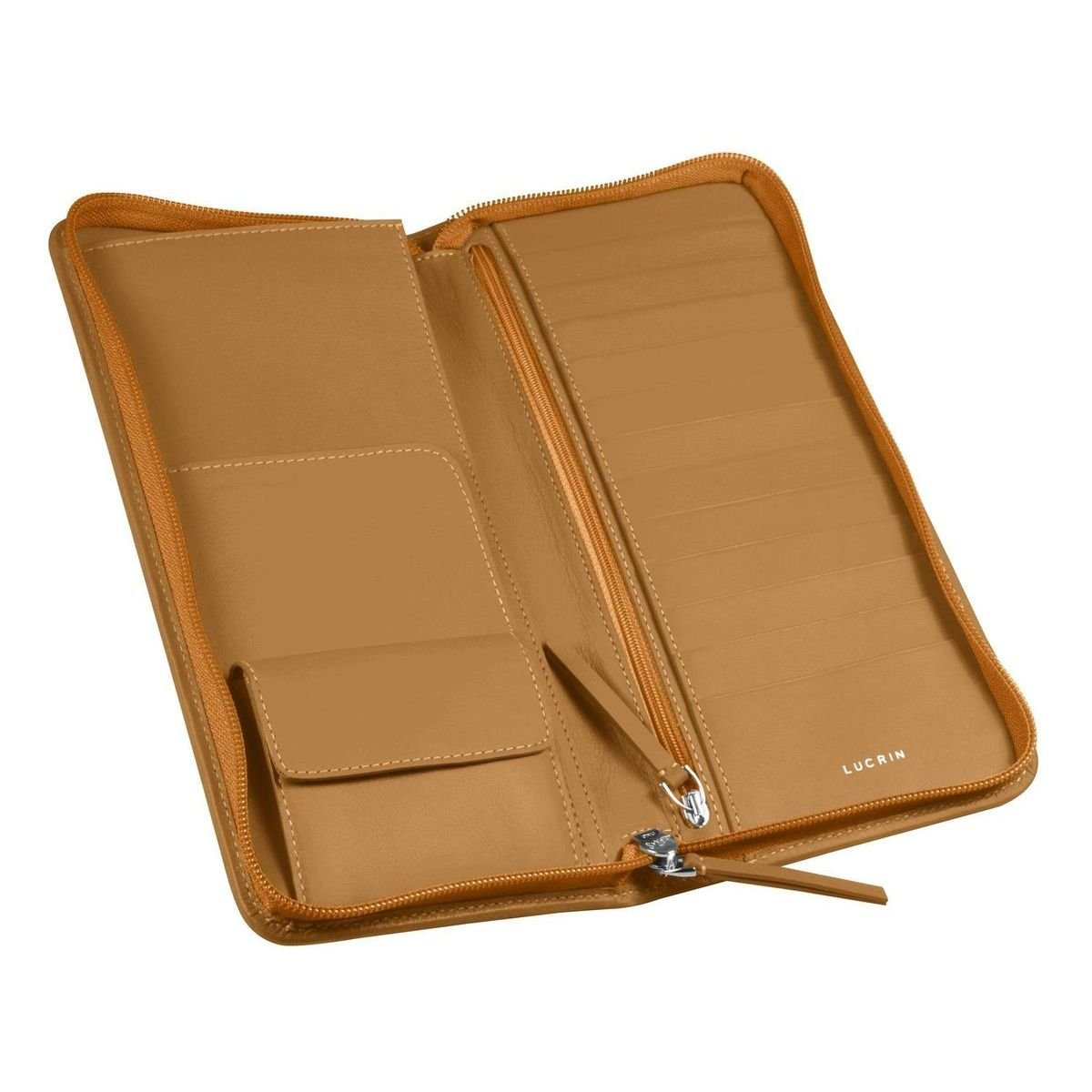 Lucrin - Deluxe travel wallet - Natural - Smooth Leather by Lucrin