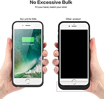 Battery Case for iPhone 6s/6,6000mAh Portable Charging Case Rechargeable External Battery Pack for Apple iPhone 6/6s Protective Charger Case Backup ...