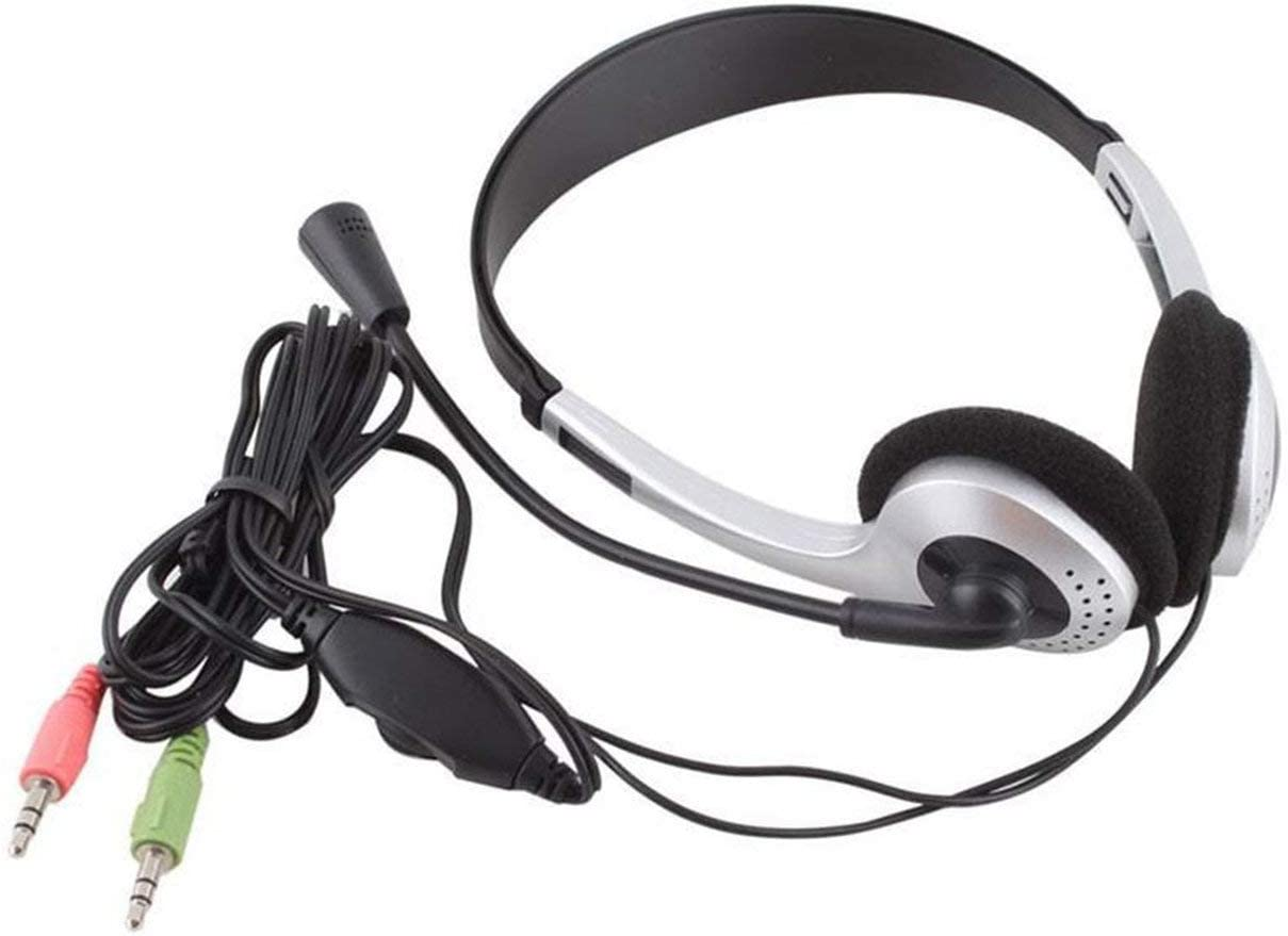 Sliver-schwarz BIYI Computer-Headset mit Mikrofon Noise Cancelling ...