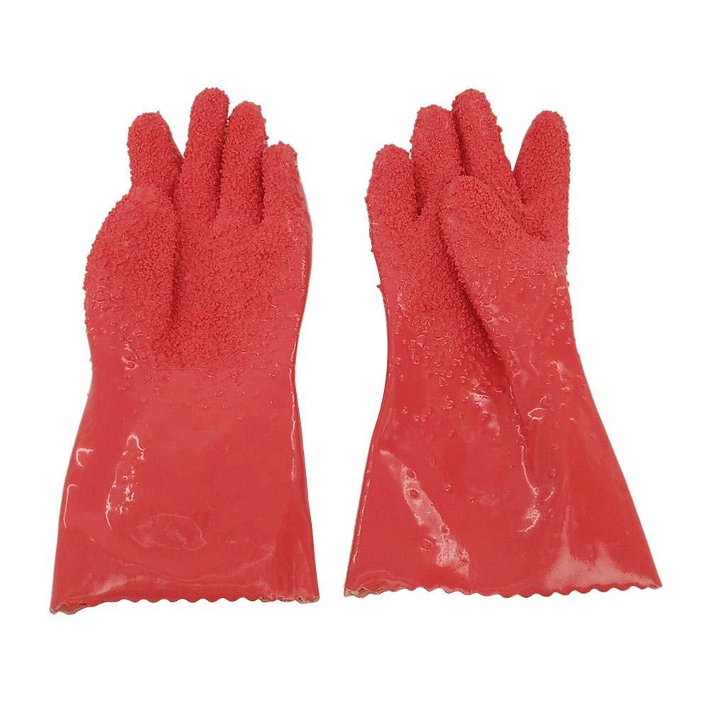 1 Pair Potato Peeler Gloves Anti-Slip Vegetable Processing Tool Peeling Gloves Utility Kitchen Gadget (Rosy)