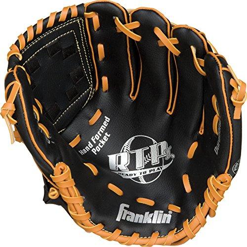 Franklin Sports RTP Teeball Performance Gloves, Black/Tan, - Inch Glove 10 T-ball