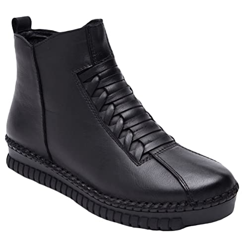 Vogstyle Women s Winter Ankle Boots Casual Side Zip Shoes Size UK 3-8   Amazon.co.uk  Shoes   Bags 86edd5336