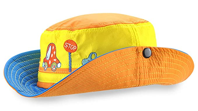 2d6cb5f23cc56 Amazon.com: Roffatide Car Embroidery Boys Bucket Hat Packable ...