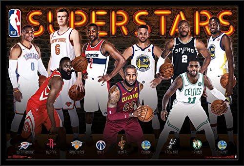 Tendencias Internacional NBA-Superstars Póster Enmarcado, 24,25