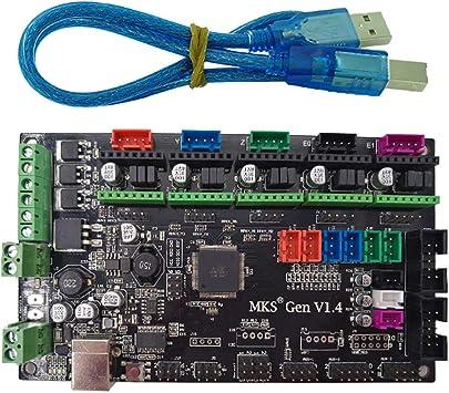 3D Printer MKS Gen V1.3 Controller Board Integrated Mega2560 R3 Ramps1.4 Compatible with A4988 DRV8825 TMC2100 Driver
