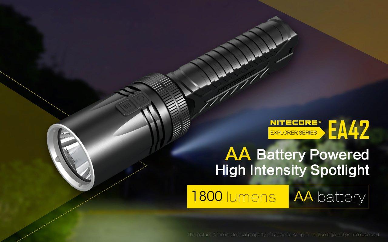 Amazon.com: NITECORE EA42 1800 Lumen Super Bright Long Throw ...