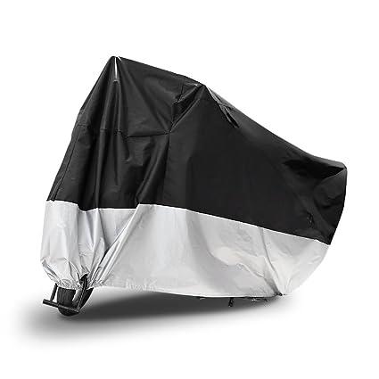 6db57b378cd AUTOLOVER Funda para Motocicleta, Funda para Moto Cubierta Impermeable Funda  Protector 190T, Cubierta de