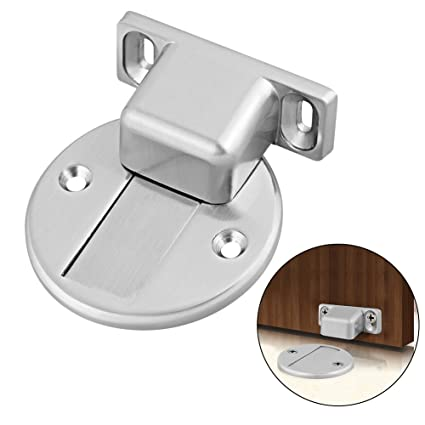 Yasorn Door Stop Powerful Magnetic Door Stopper Brushed Stainless Steel Door  Stop Floor Mounted With Mounting