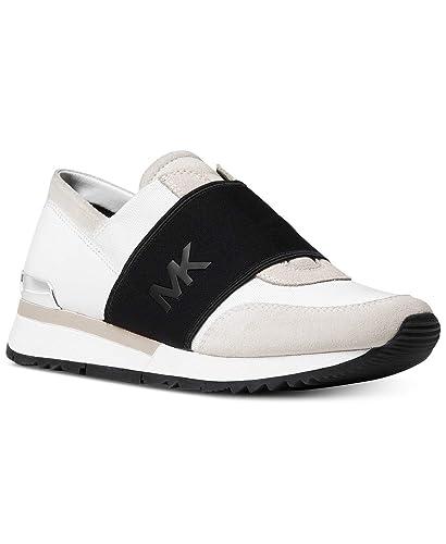 a61d4befada29 Amazon.com | Michael Kors Women's Trainer Canvas Fashion Sneakers ...
