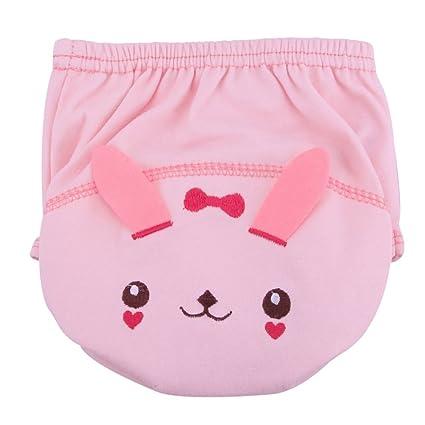 Pantalones de entrenamiento para bebé paño lavable reutilizable para bebé pañales bebés pañales rosa rosa Talla