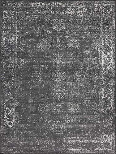 Unique Loom Sofia Collection Traditional Vintage Dark Gray Area Rug (9' x 12') (12 Rugs Area 7 X)