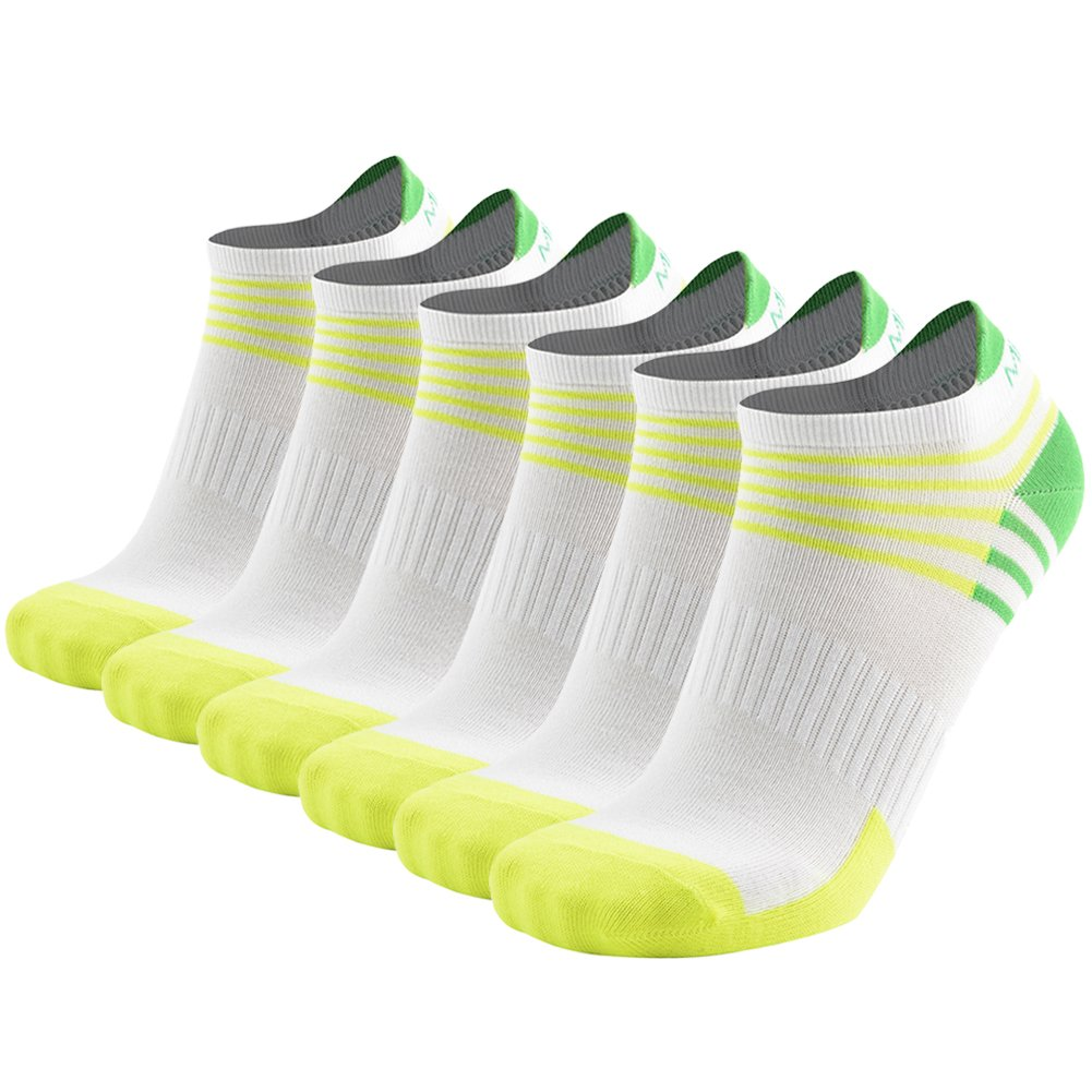 MEIKAN Athletic Performance Comfort No Show Tab Socks for Men Women Low Cut Running Socks 6 Pack