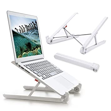 ... Plegable Ordenador Portátil Ajustable Soporte para/Notebook / macbook Air/macbook Pro/Portátiles con 11-15.6 Pulgadas- White: Amazon.es: Electrónica