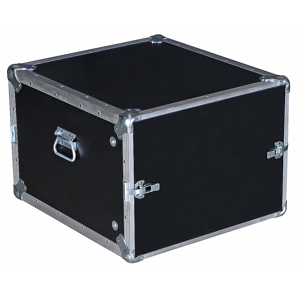 8 Space 8u 19 3/4 Deep Economy Flat Lids 3/8 Ply Heavy Duty ATA Style Compact Rack Case