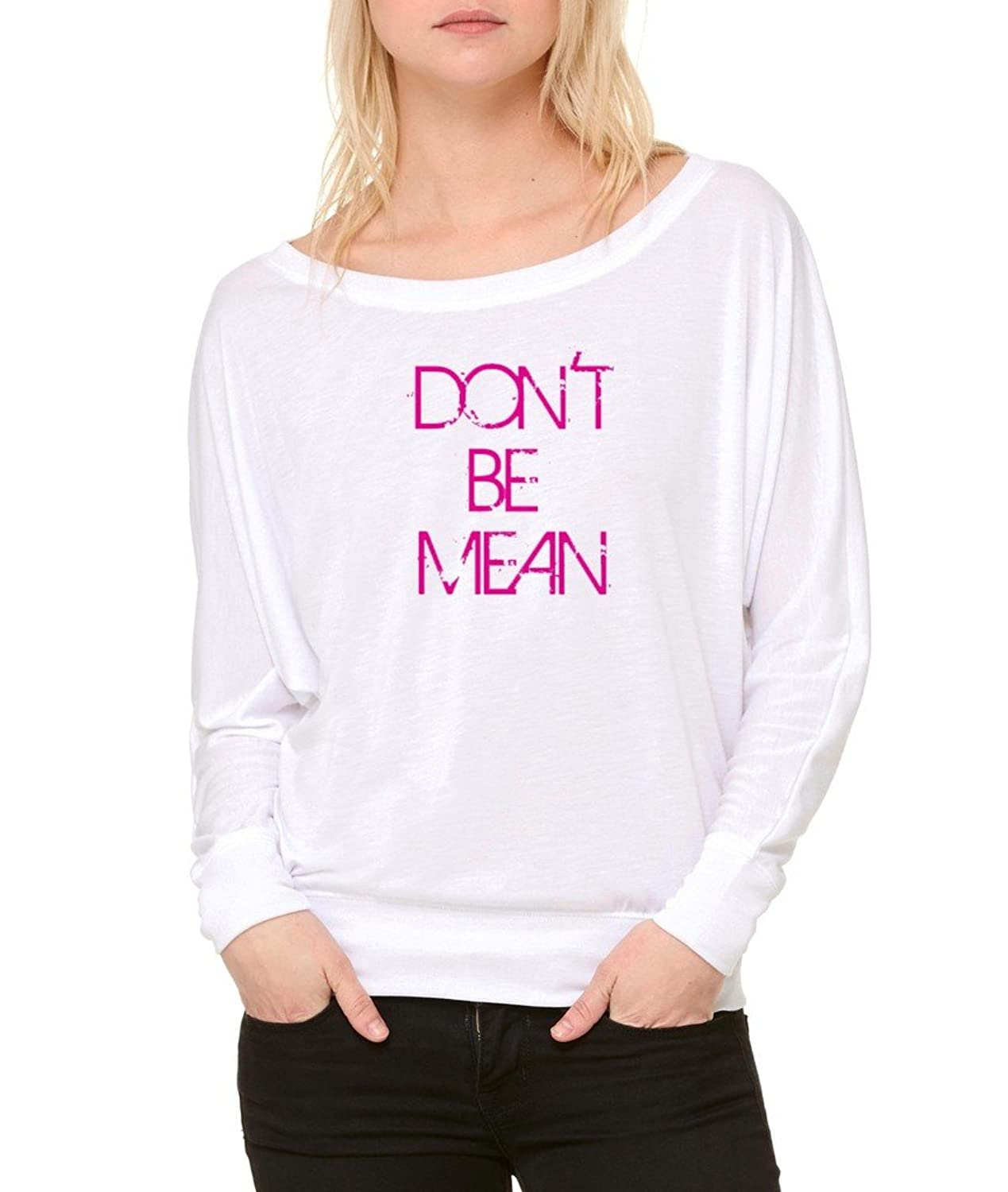 Don鈥檛 Be Mean Long-Sleeve Mean People Suck Flowy Shirt