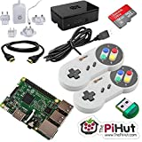 Raspberry Pi 3 16GB Retro Gaming Bundle with 2 SNES Style Controllers by ThePiHut